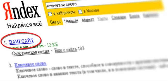Раскрутка сайта под поисковики