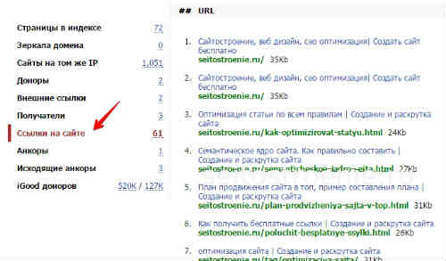 сервис linkpad ищем вредоносные ссылки ссылки