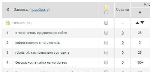 как определить позицию сайта в поисковике