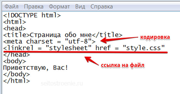 Как сделать ссылку на css документ